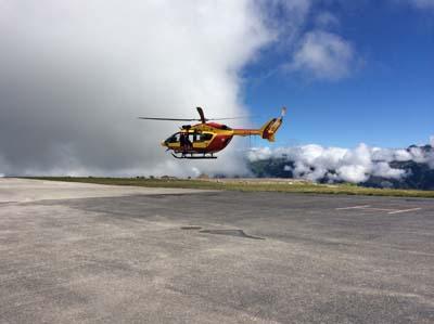 Un hélicoptère de la Sécurité civile