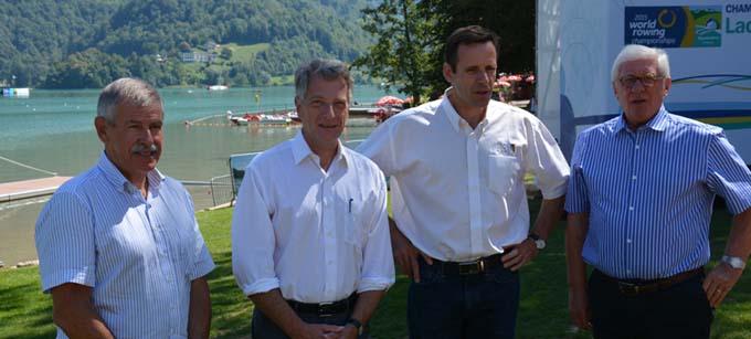 Jean-Jacques Mulot, Hervé Gaymard, Jean-Christophe Rolland et Denis Guillemard - © Sergio Palumbo - 123 Savoie
