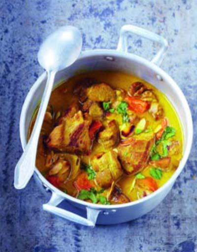 Curry d'agneau au lait de coco