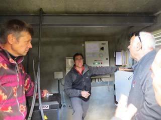 Refuge de la Balme, visite avec les élus 1 - © ERDF