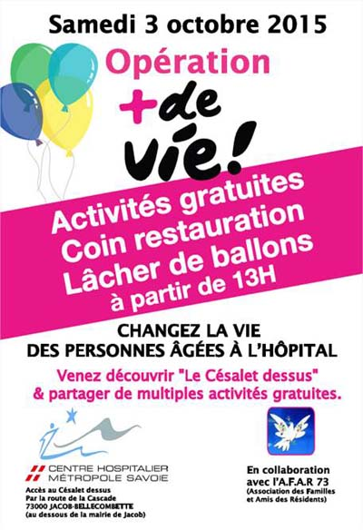 + de Vie, l'Hôpital de Chambéry s'engage