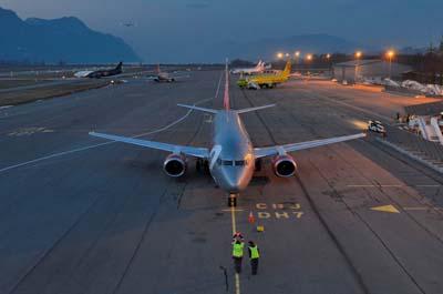 L'aéroport Chambéry Savoie