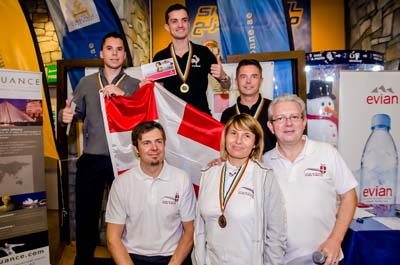 Les Savoyards de Dubaï avec Antoine Dénériaz et les gagnants de la compétition
