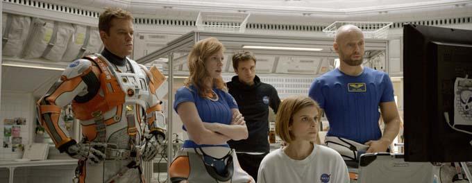 Matt Damon, Aksel Hennie, Jessica Chastain, Kate Mara et Sebastian Stan - © Twentieth Century Fox