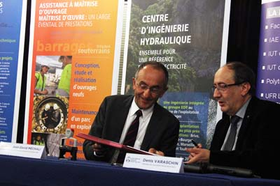 Jean-David Méchali et Denis Varaschin - © Université Savoie Mont Blanc