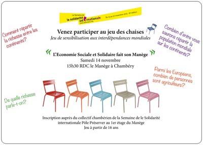 Jeu des chaises, Semaine de la Solidarité Internationale