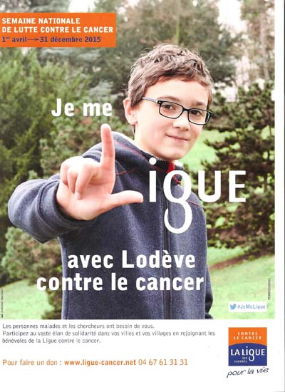 Affiche Ligue contre le cancer