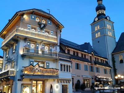 Dans la féérie des stations alpines, comme ici à Megève