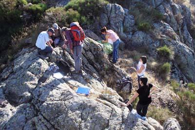 Sortie terrain des étudiants de l'UFR Sciences et Montagne