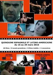 Affiche Quinzaine du Cinéma espagnol et latino-américain 2016