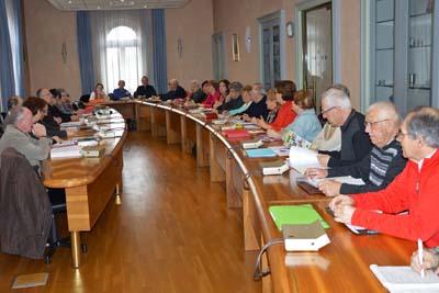 Les membres du conseil des sages de La Motte-Servolex avaient invité leurs homologues d'Aix-les-Bains.
