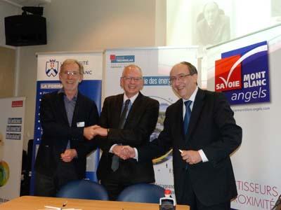 Dominique Favario, Luc Berthoud et Denis Varaschin - © USMB