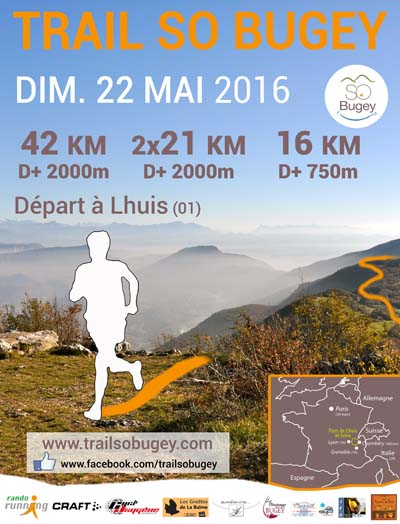 Affiche Trail SO Bugey 2016