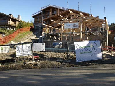 Hôtel de la Cry à Megève, Entrée du chantier