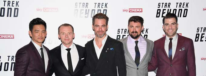 Chris Pine, John Cho, Karl Urban, Simon Pegg et Zachary Quinto - © Paramount Pictures France
