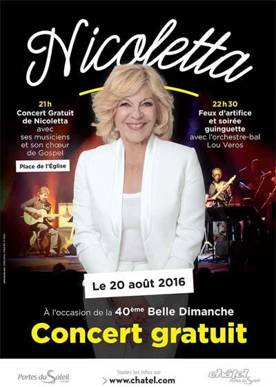 Nicoletta en concert à Châtel