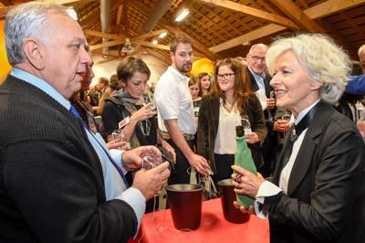 Michel Quenard, Charles-André Charrier, Michel Bouche, Evelyne Léard-Viboux et Bernard Vissoud - © SMB - Agence Zoom M. Cottin