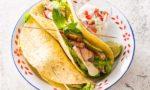 Galettes de maïs au poulet tandoori et Reblochon
